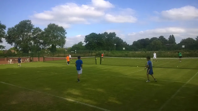 2. tennis courts