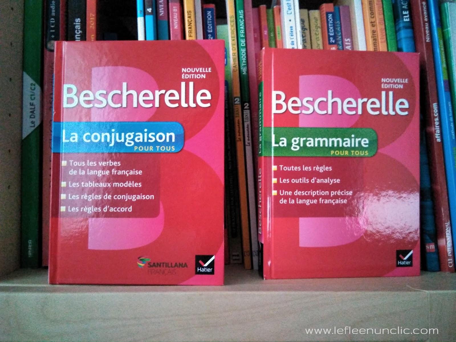 bescherelle, bescherelle la conjugaison pour tous, bescherelle la grammaire  pour tous, Santillana français