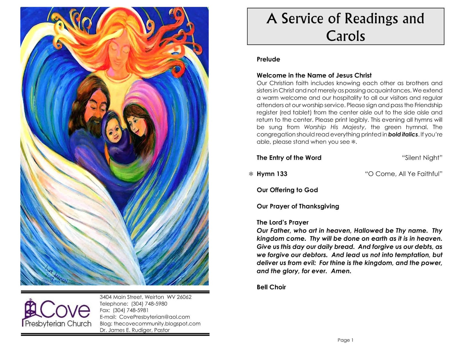 The Cove Community: Cove\'s Bulletin for Christmas Eve, December 24, 2016