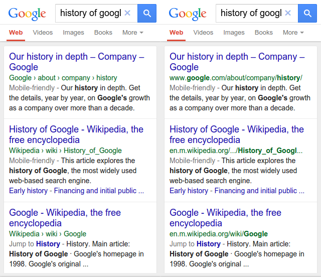 Algoritma Google Menyembunyikan URL