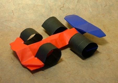 Origami Car RaceCar Caboblanco 3D