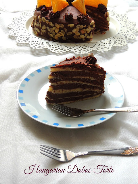 Hungarian Layered Cake, Dobos Torte