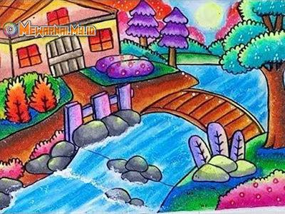 Teknik Mewarnai Pemandangan Alam dengan Crayon