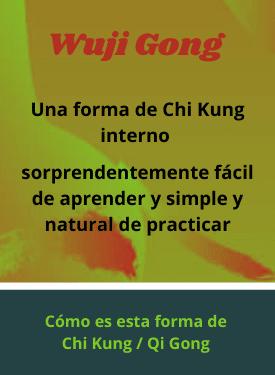 una forma de chi kung llamada wuji gong