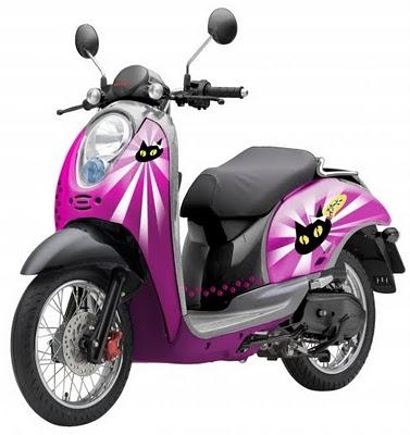motorcycles Honda Scoopy