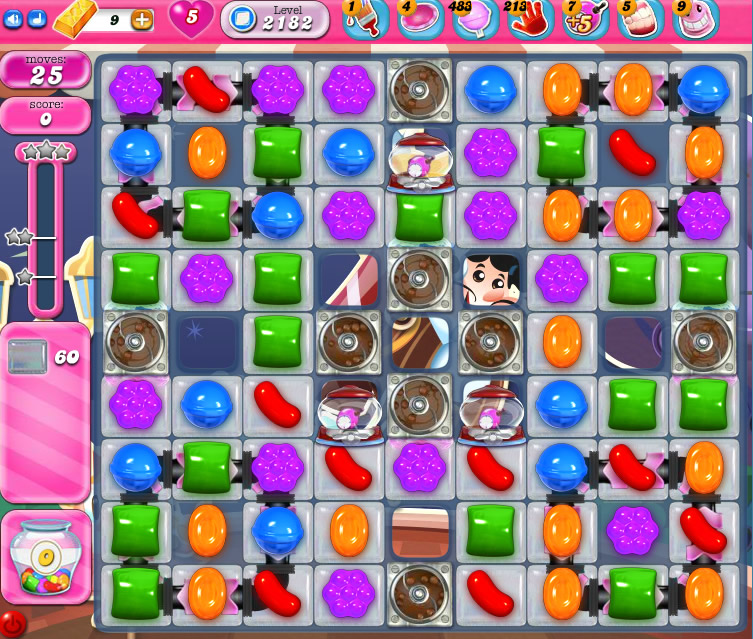 Candy Crush Saga level 2182
