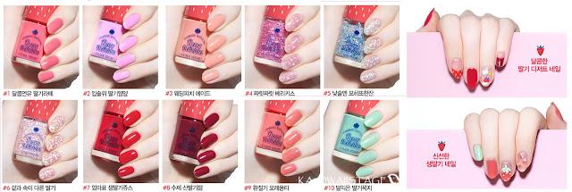 esmaltes de uñas tonos