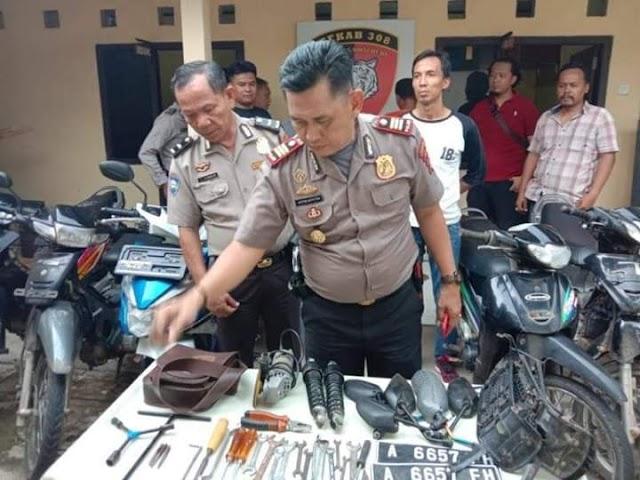 Polsek Gading Rejo Amankan Pelaku Curanmor 18 TKP di Kabupaten Pringsewu