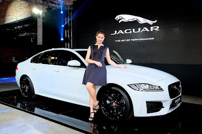 Jaguar XF With model pose