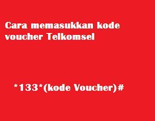 memasukkan kode voucher telkomsel
