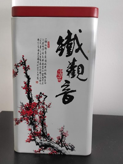 Lata de chá decorada Cerejeiras Japão