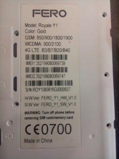 FERO ROYALE Y1 FLASH FILE MT6735 6 0 (STOCK ROM) 100% TESTED