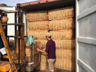 xuất khẩu chỉ xơ dừa đi Trung Quốc