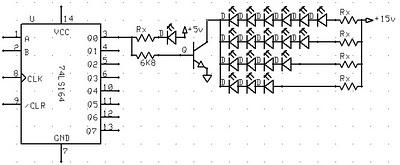 experiment 7 leds in a series and parallel circuit