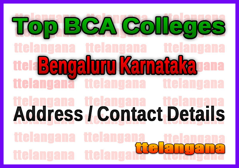 Top BCA Colleges in Bengaluru Karnataka