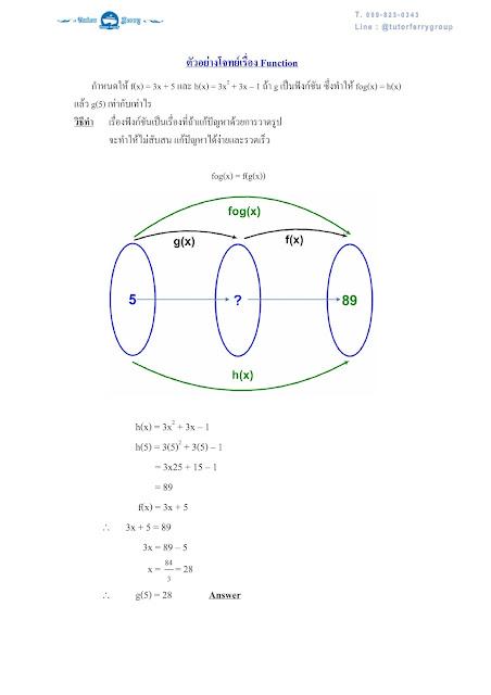 เรียนคณิตศาสตร์ที่บ้าน จ.ชลบุรี