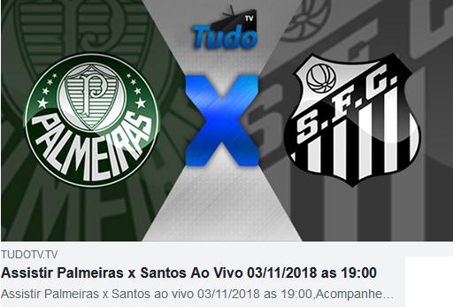 Assistir Palmeiras x Santos Ao Vivo 03/11/2018 as 19:00  (Tv Tudo)