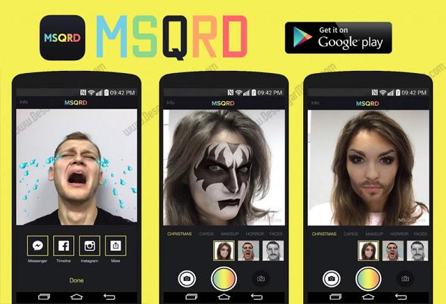 تطبيق MSQRD لاضافة فلاتر ومؤثرات حية على الصور للاندرويد والأيفون
