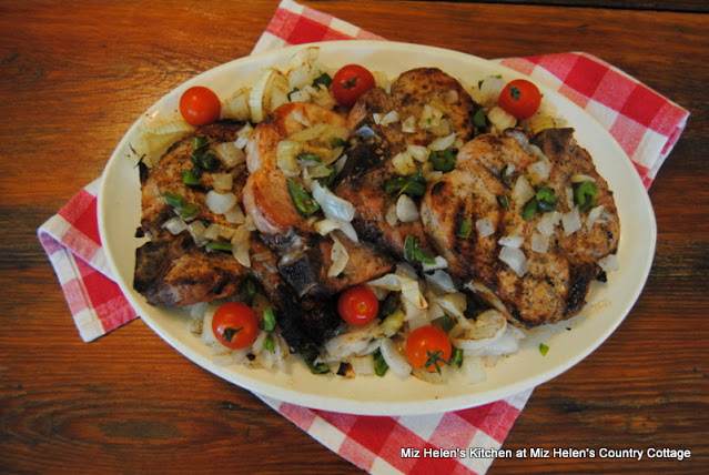 Grilled Jalapeno Pork Chops at Miz Helen's Country Cottage