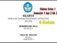 Silabus Kelas 1 Kurikulum 2013 8 Kolom Revisi 2018