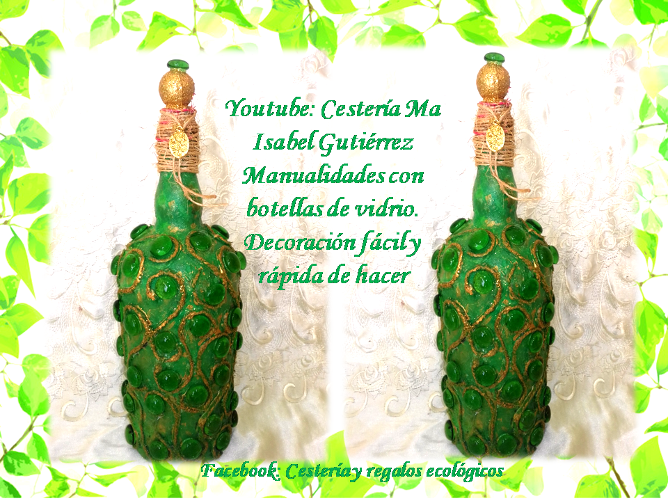 Cesteria Ma Isabel Gutierrez Manualidades Con Botellas De Vidrio