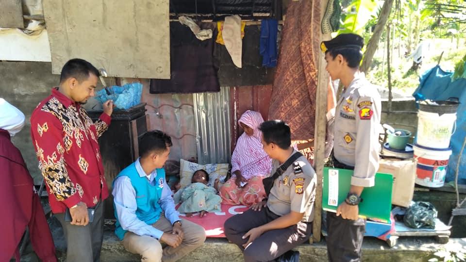 Lembaga Peduli Dhuafa Lhokseumawe bersama Polres Lhokseumawe Kunjungi Keluarga Dhuafa.
