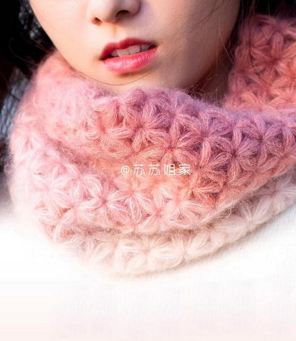 Crochet Scarf  / Cowl - Jasmine Stitch - Crochet Patterns & Tutorials