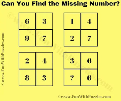 Can you find the missing number in Square?