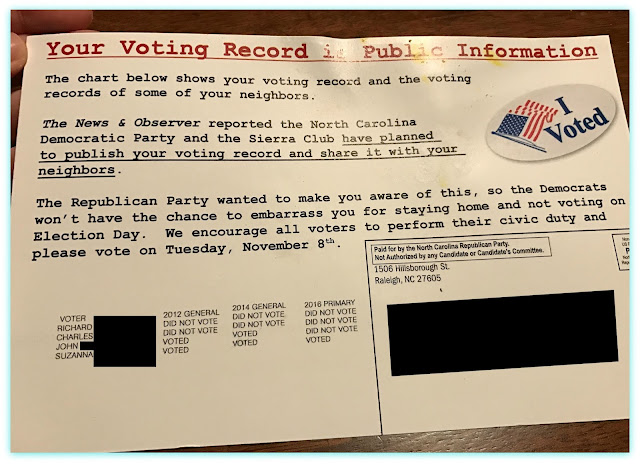 Funny voter guilt and  peer pressure mailings from the 2016 presidential election