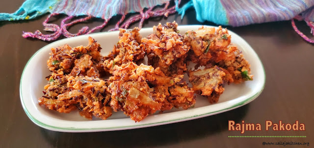 images of Rajma Pakoda / Rajma Pakora / Kidney Beans Pakora - Tea time Snack