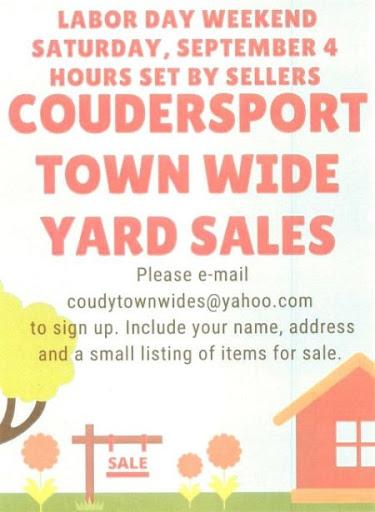 9-4 Coudersport Town Wide Yard Sale