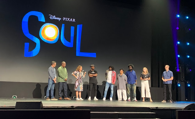 Pixar Soul Vocal Cast - Jamie Foxx, Quest Love, Tina Fey on stage at the D23 Expo