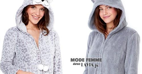2f6e7df0ecd63 Pyjama combinaison femme toucher polaire ETAM