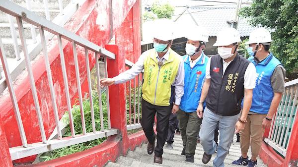 鋼筋裸露藏危機 彰化市3座人行天橋整修補強
