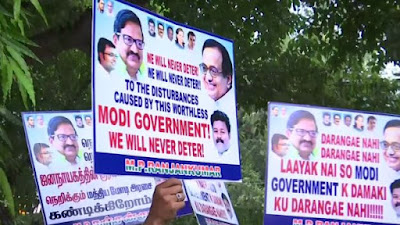 Supporters protest against Modi Government