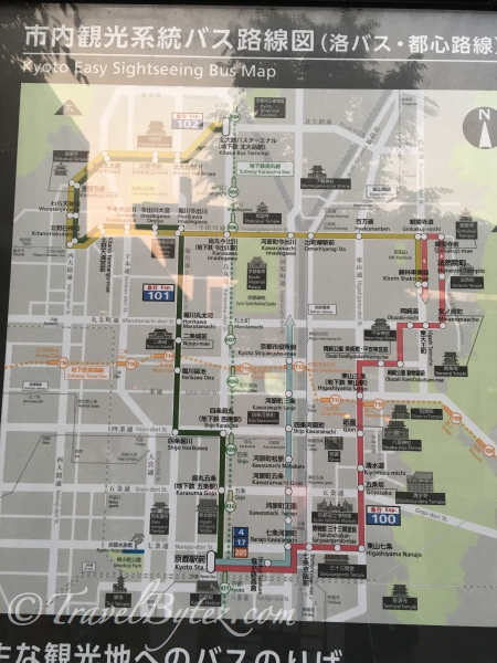 Kyoto Easy Sightseeing Bus Map