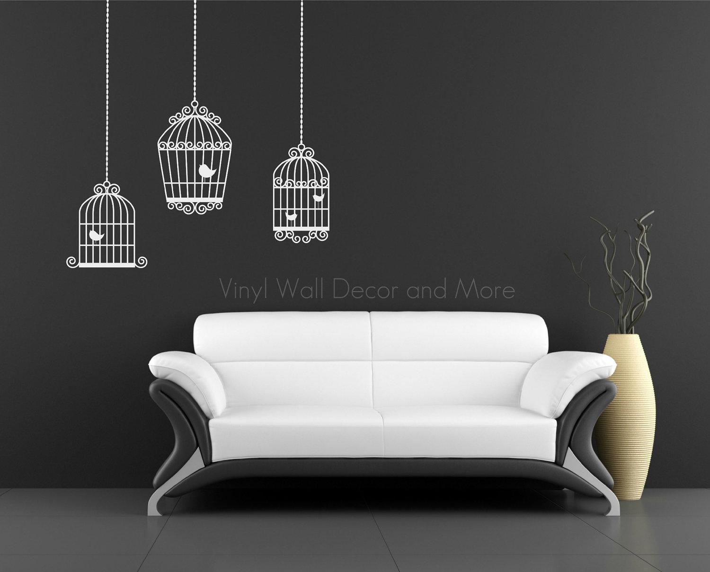 Twc decorando con jaulas for Vinilos pared blancos