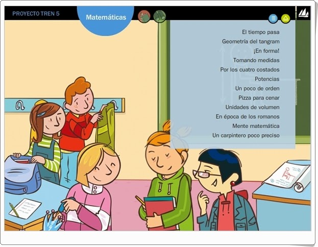 Actividades digitales de Matemáticas. 5º de Primaria. Editorial La Galera.