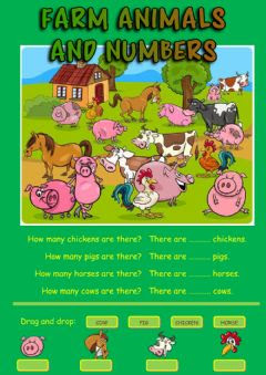 https://www.liveworksheets.com/worksheets/en/English_as_a_Second_Language_(ESL)/The_animals/Farm_animals_and_numbers_ab281kk