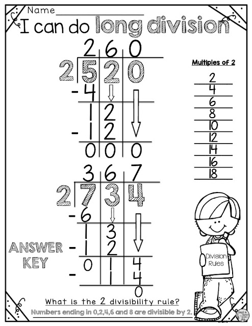FREE Long division for beginners long division practice strategies for fourth grade math
