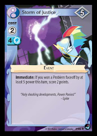 My Little Pony Storm of Justice High Magic CCG Card