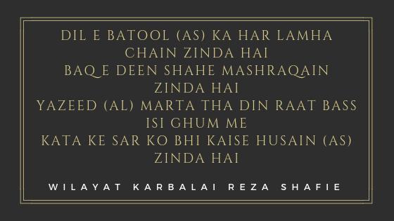 Wilayat Karbalai Reza Shafie Quotes | Islamic Inspirational quotes on Sepher Quotes