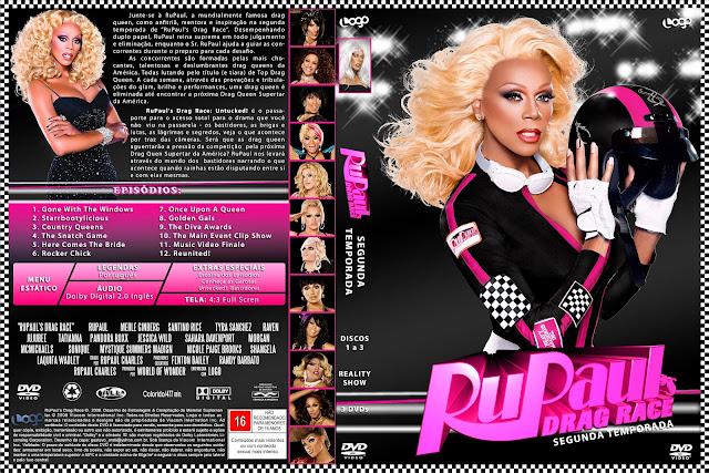 Capa DVD RuPauls Drag Race Segunda Temporada D1 a D3