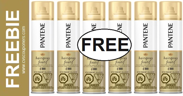FREE Pantene Hairspray CVS Deals