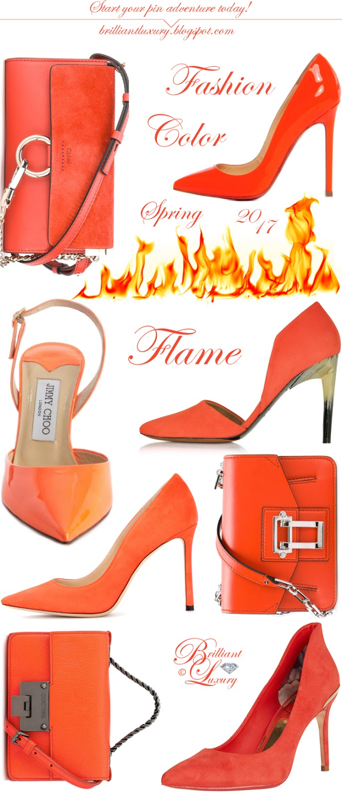 Brilliant Luxury ♦ Fashion Color Spring 2017 ~ flame