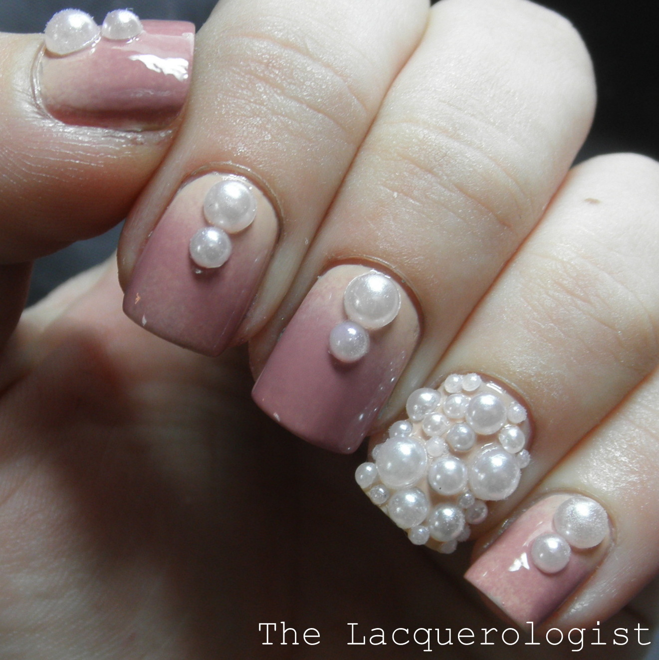 Classy pearl nail art featuring tmart casual contrast the pearls i am using in this post are called tmart pearl nail art rhinestones round white 10 on the site and i am really pleased with how gorgeous this prinsesfo Images