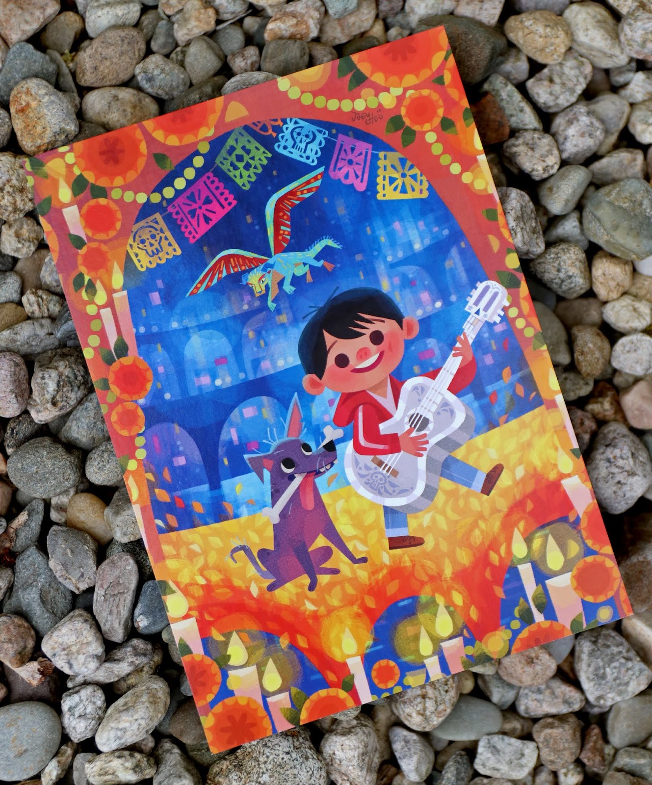"""Coco """"Miguel and Dante"""" Postcard Artwork by Joey Chou"""