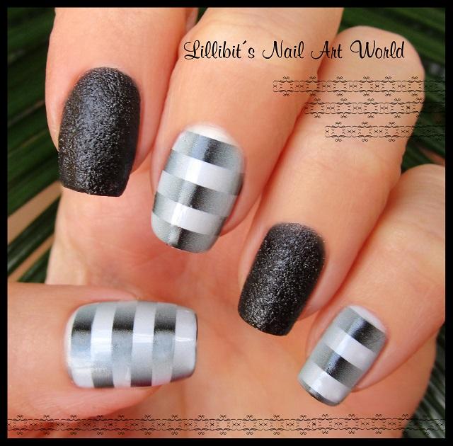 Lillibits Nail Art World Manicura Con Rayas Tridimensionales