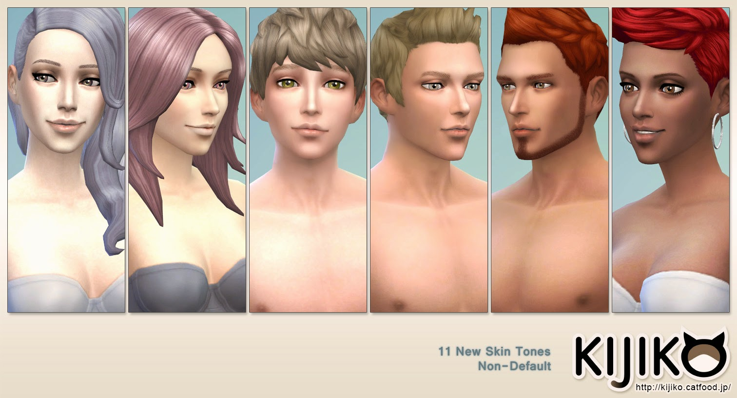 My Sims 4 Blog: Skin Tones Glow Edition and Skin Texture