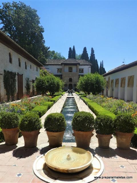patios del Generalife Alhambra Granada